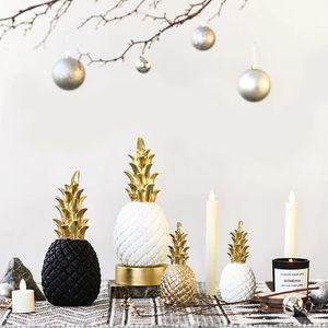 Original nórdico moderno abacaxi frutas sala de estar gabinete de vinho desktop decoração de casa decoração prop acessórios