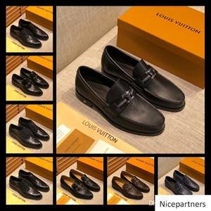 A1 52 Modelle Geschäfts-Kleid Herren-Lederschuhe der klassischen Männer Kleid Schuh Luxusmarken Männer Hochzeit Elegante Schuhe Derby flache Schuhe 38-45