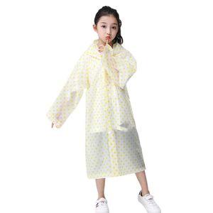 Raincoat pour enfants garçons de couleur unie sac d'école d'une seule pièce Poncho longue marche élèves filles Raincoat Veste Épaississants