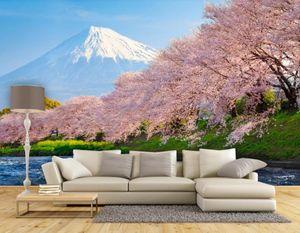 belas paisagens Papéis de parede do fundo fresco e flor bonita cereja japonesa e coreana TV
