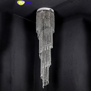 FUMAT Moderne K9 Lustres En Cristal LED Spirale Salon Hanglamp lustre led lumière Escalier Hôtel Suspension Suspension Lumière