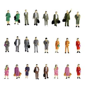 50 x Figures Model 1:87 Scale Painted Figures People Set With Different Postures Best Birthday and Holiday Present for Children