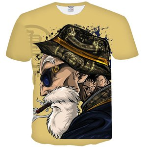 Kame t shirt Dragon ball hot sale short sleeve tops Master Roshi tee Colorfast print gown Unisex all size clothing Quality tshirt