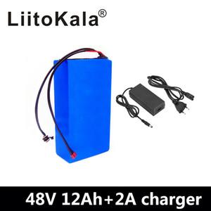 LiitoKala 48v электрический велосипед батареи 12Ah батарея лития 48v 12Ah с 54.6V 2A зарядное устройство для 500W 750W 1000W двигателя пошлины
