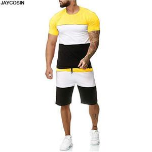 KLV dos homens dos homens Mens 2 peça Outfit esporte conjunto de manga curta verão lazer casual conjuntos finos curtos terno de alta qualidade quente 9516