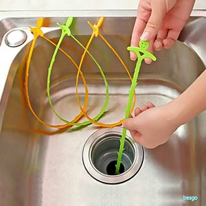 51cm Kitchen Bathroom Sink Pipe Drain Cleaner Pipeline Hair Cleaning Removal Shower Toilet Sewer Clog Long Line Plastic Hook DBC BH3669
