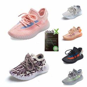 Top Quality 2020 Kanye West Chaussures de course pour enfants Desert Sage Terre Lin Lin Marsh Tail True Light Form Zyon White Shoes Designer # 166