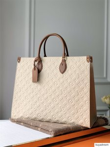 LOU1S VU1TTON hakiki deri kadın onthego M44933 büküm çanta alışveriş haberci Alışveriş çantası omuz çantası Totes Kozmetik Bag cebe