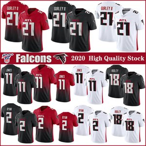 11 Julio Jones 21 Todd Gurley II Atlanta 2020 New Jersey du football Falcon 2 Matt Ryan 18 Ridley 24 Devonta Freeman 21 Deion Sanders maillots