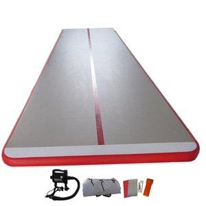 Envío gratuito 4x1x0,1 m colchón de gimnasia inflable gimnasio Tumble Air Track piso Tumbling Air Track Mat inflable Air Gym Airtrack