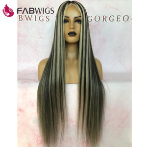 Fabwigs parrucca su misura 180% Densità Evidenziare Pre Piano Colore piena del merletto dei capelli umani parrucche 1B 613 Biondi Virgin dei capelli parrucche piene del merletto End
