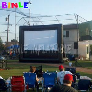 Party time 30x17ft grand profesional lecteur écran de cinéma gonflable dans l'écran du projecteur de cinéma pour la plage en plein air