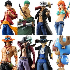 Megahouse heróis acção variável One Piece Luffy Ace Zoro Sabo Lei Nami Dracule Mihawk PVC Action Figure Collectible Modelo Toy LY191210