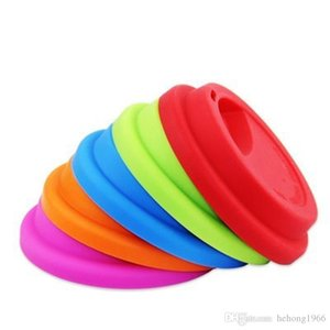 Silicone Cup tampa de aspiração Seal Covers tampa para criativa à prova de fugas monocamada Cups Cap Caneca Tumbler Anti Poeira 1 45ss