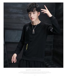 Q men's clothing long-sleeved t-shirt men's loose autumn clothes fashion spring and autumn men's wear 2020 new trendy brandLarge size