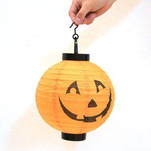 Ev Korku Fener Sarf Malzemesi Fener Işık Lambası Cadılar Bayramı Süslemeleri Asma Cadılar Bayramı Dekorasyon LED Kağıt Kabak