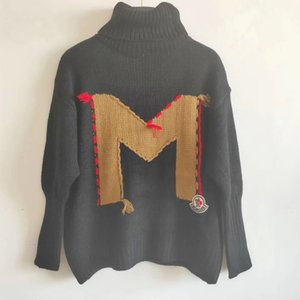 Milan Runway camisola 2019 de Long Mulheres gola alta manga Camisolas High End Jacquard pulôver Mulheres Designer Sweater 10,401