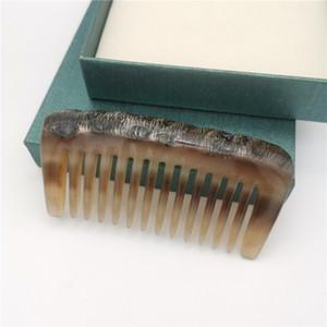 Bianco Naturale corno di bufalo pettine Wild Style Original-Eco Broad Tooth di massaggio pettine antistatico Adatto Per Capelli corti