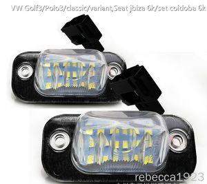 matrícula del coche LED lámparas para VW Golf3 / Polo3 / variante / clásico, jbiza Asiento 6k / set coidoba 6k del precio de fábrica llevó el número de placa de la luz 12V 6000K