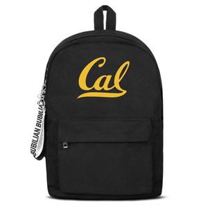nylon di alta qualità unisex zaino California Golden Bears football logo regolabile Laptop casuale zaino Bookbag trasporto libero