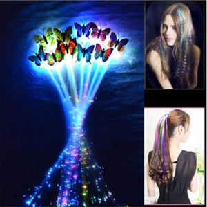 LED flash de concierto partido de la mariposa LED trenza de los accesorios Accesorios para el cabello de Halloween Navidad sombreros juguetes de los niños LED