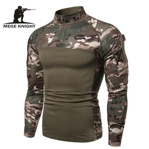 Mege Camouflage Tactical Military Clothing Combat Shirt Assault Multicam ACU long sleeve Army Tight T shirt Army USMC Costume MX200509