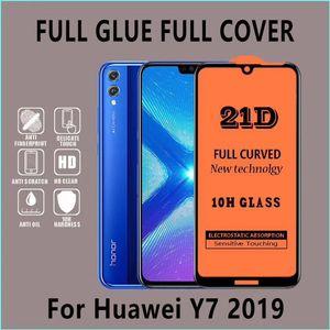 3D pleine couverture en verre trempé pour Huawei P40 Mate30 Lite Mate30 Pro Nova5i P smart 2019 2019 P20 Y7 Y6 Mate20 Lite Y6 2018