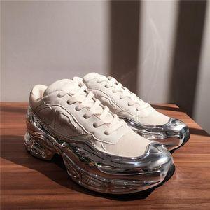 2020 Mens oversize scarpa da tennis, argento liquido disegno sneaker effetto dip Sole Trainer multicolore con 38-45