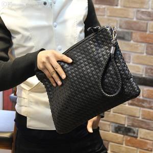 Toptan-Sıcak Yeni Moda Erkek Cüzdanlar Deri Çanta Erkek Cüzdan Depolama Çanta Dokuma Debriyaj Çanta erkek debriyaj çanta deri