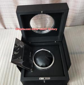 الفاخرة عالية الجودة hub مشاهدة الأصلي مربع أوراق بطاقة شفافة الزجاج الخشب هدية صناديق حقيبة ل بانج الملك الطاقة HUB4100 2892 ساعات