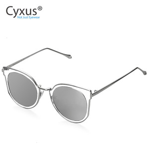 Cyxus Fashion Cat Eye Sunglasses Women Retro Transparent Frame Brand Sun Glasses -1713 SH190924