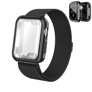 venta al por mayor milanesa Loop con correa de TPU plateada para Apple Watch 4 Band 40mm 44mm Wistband Protector de pantalla para iWatch serie 4