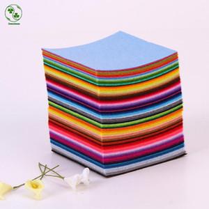 88 colores/lote Diy tela no tejida de fieltro, fieltros de tela, fieltro poliéster acrílico telas no tejidas 10X10 cm