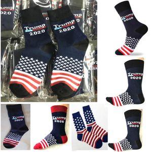 Women Men 2020 Trump Socks Cotton Knit Mid Tube Long Sock For US Presidential Print Designer Socks Xmas Party Favor Gift DHL ship HH9-2245