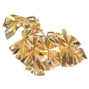 5CM Küçük Bow Yılbaşı Ağacı Dekorasyon kolye Pretty Kelebek Bow Hediye Süsleme Noel Ağacı Dekoru