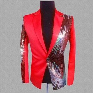 PYJTRL Blazer Men Nightclub Cantor Suit Casual Lantejoulas Blazers