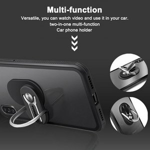Basamento di rotazione rotante Car Mount Air Vent Grip 2 in 1 Holder Telefono 360 gradi Dito magnetico anello di supporto del telefono per iPhone 11