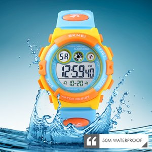 Skmei Brand Sport Children Watch Impermeable Led Digital Relojes para Niños Reloj Electrónico de Lujo Para Niños Niños Niños Chicas Regalos J190526