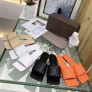 Brand Design Les femmes en cuir de vache pantoufles occasionnels été doux plage cool sandales en cuir tressé, bureau pantoufles dame Sheepskin Mocassins, 35-42