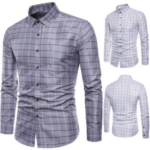 Marque chemise à manches longues de Mens à manches longues Oxford Formelle Casual Décontracté Plaid Chemise Slim Fit Chemises Haut chemise masculine chemise homme M-5XL