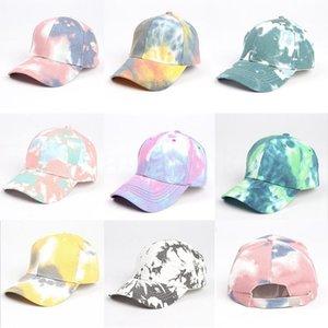 Fashion Tie Dye Baseball Caps Adjustable Colorful Snapback Outdoor Sports Hat Hip Hop Leisure Shade Hat DDA95