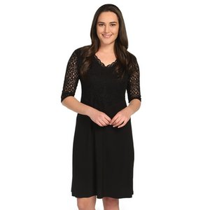 The pianola of Women Large Size Dresses Front Lace Covered Black 1244 Ship 548 from Turkey