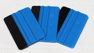 Good Quality Car Wrap Tool 10 *7 .5cm 3m Blue Felt Edge Bump Cards Bondo Squeegee With Felt For Car Wrapping Pa -1f Whole Sale