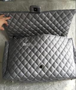 2018 di modo delle donne di grande capienza sacchetti di Duffel 46cm ha imbottito la catena della spalla di lusso borsa Shopping Tote Bag Aeroporto Fine Settimana Da Borse da viaggio