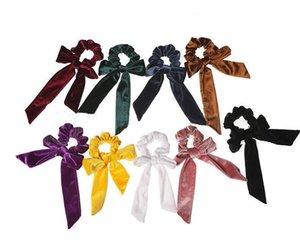 9 farben Mädchen Samt headrope Frauen Haarschleife Stirnband Samt Elastische Haar Seile Haargummis Haargummis Kopfband
