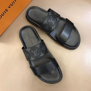 Newast Designer Mode Luxus Herren Schuhe drucken Leder Sommer Mode Casual Wohnungen Sandalen für Männer Strand Flip-Flops Beste Qualität