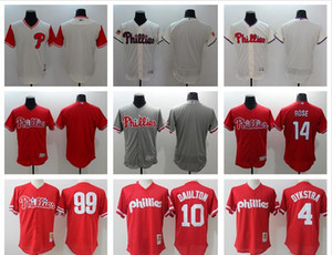 Männer Frauen Jugend Phillies Baseball Jersey # 14 Pete Rose 10 Darren Dumrenton 4 Dykstra 99 Mitch Williams Leere Baseball Trikots