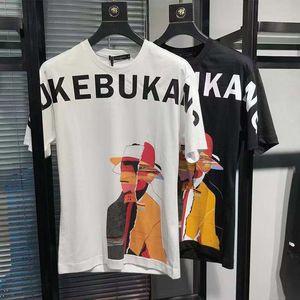T-Shirts 2020 Moda nuevo Mens transpirable Casual Carta Imprimir hombre de cuello redondo camiseta 3 colores tamaño asiático M-5XL