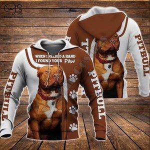 Unisexe pitbull édition limitée imprimé chien 3d zipper Le hoodie survêtement pull veste à manches longues de Y200519