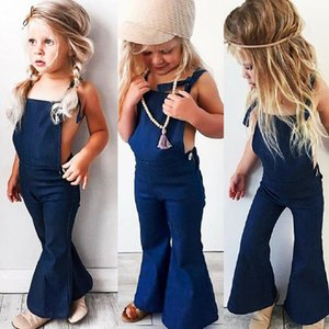 Toddler Kids Girls Denim Correa Bib Pantalones Romper Jumpsuit Playsuit Ropa 1-6Yrs